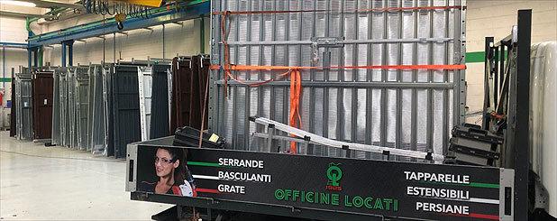 Produzione porte garage Officine Locati
